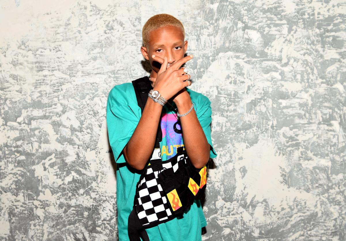 Jaden Smith attends the launch event of the activewear label SECNDNTURE by Jordyn Woods at a private residence on August 29, 2018 in West Hollywood, California