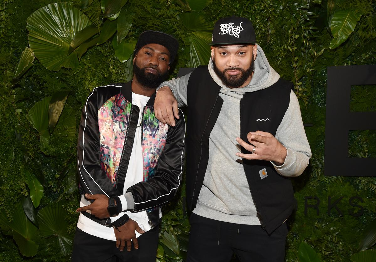 Television personalities Desus Nice (L) and The Kid Mero attend the 2018 A+E Upfront on March 15, 2018 in New York City.