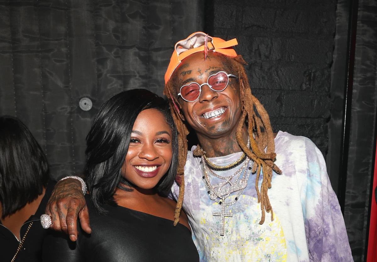 Reginae Carter and Lil Wayne attend Lil Wayne's 36th birthday party and Carter V release at HUBBLE on September 28, 2018 in Los Angeles, California
