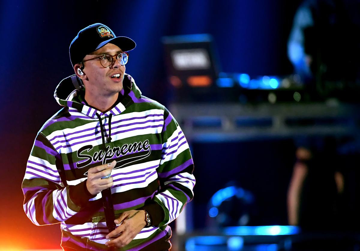 Logic performs onstage during the 2018 iHeartRadio Music Festival at T-Mobile Arena on September 22, 2018 in Las Vegas, Nevada.