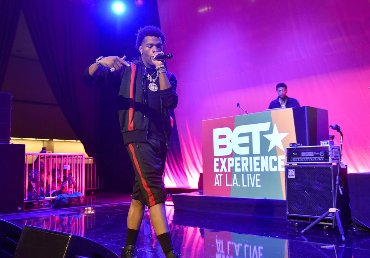 Lil Baby performs at the BETX Main Stage, sponsored by Credit Karma, at 2018 BET Experience Fan Fest at Los Angeles Convention Center on June 22, 2018 in Los Angeles, California