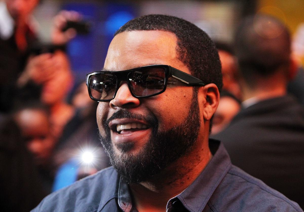 Ice Cube smiles as he arrives ahead of the Ride Along 2 Australian Premiere at Hoyts Melbourne Central on February 10, 2016 in Melbourne, Australia.