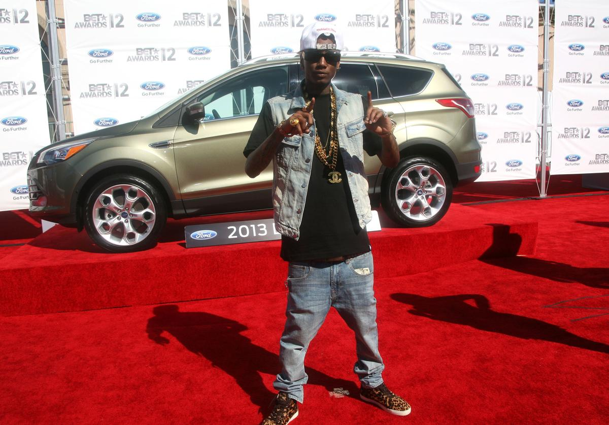 Rapper Soulja Boy arrives at the 2012 BET Awards at The Shrine Auditorium on July 1, 2012 in Los Angeles, California.