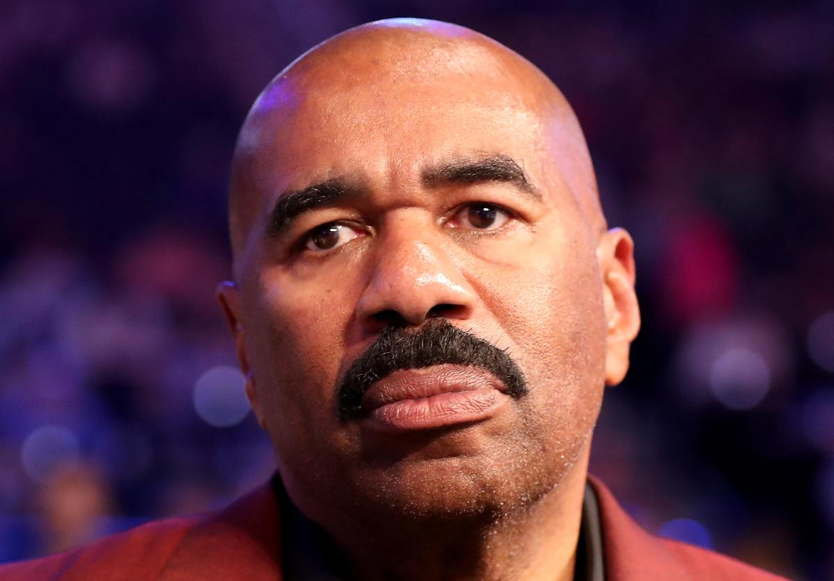 Steve Harvey attends the super welterweight boxing match between Floyd Mayweather Jr. and Conor McGregor on August 26, 2017 at T-Mobile Arena in Las Vegas, Nevada