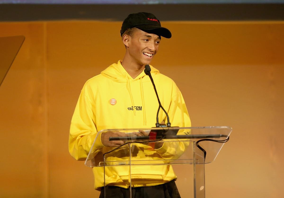 Jaden Smith speaks onstage during the 28th Annual Environmental Media Awards at Montage Beverly Hills on May 22, 2018 in Beverly Hills, California