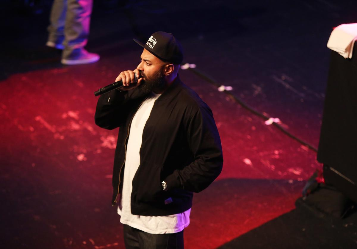 Ebro Darden speaks onstage at the kick-off concert for AWXI at Terminal 5 on September 29, 2014 in New York City