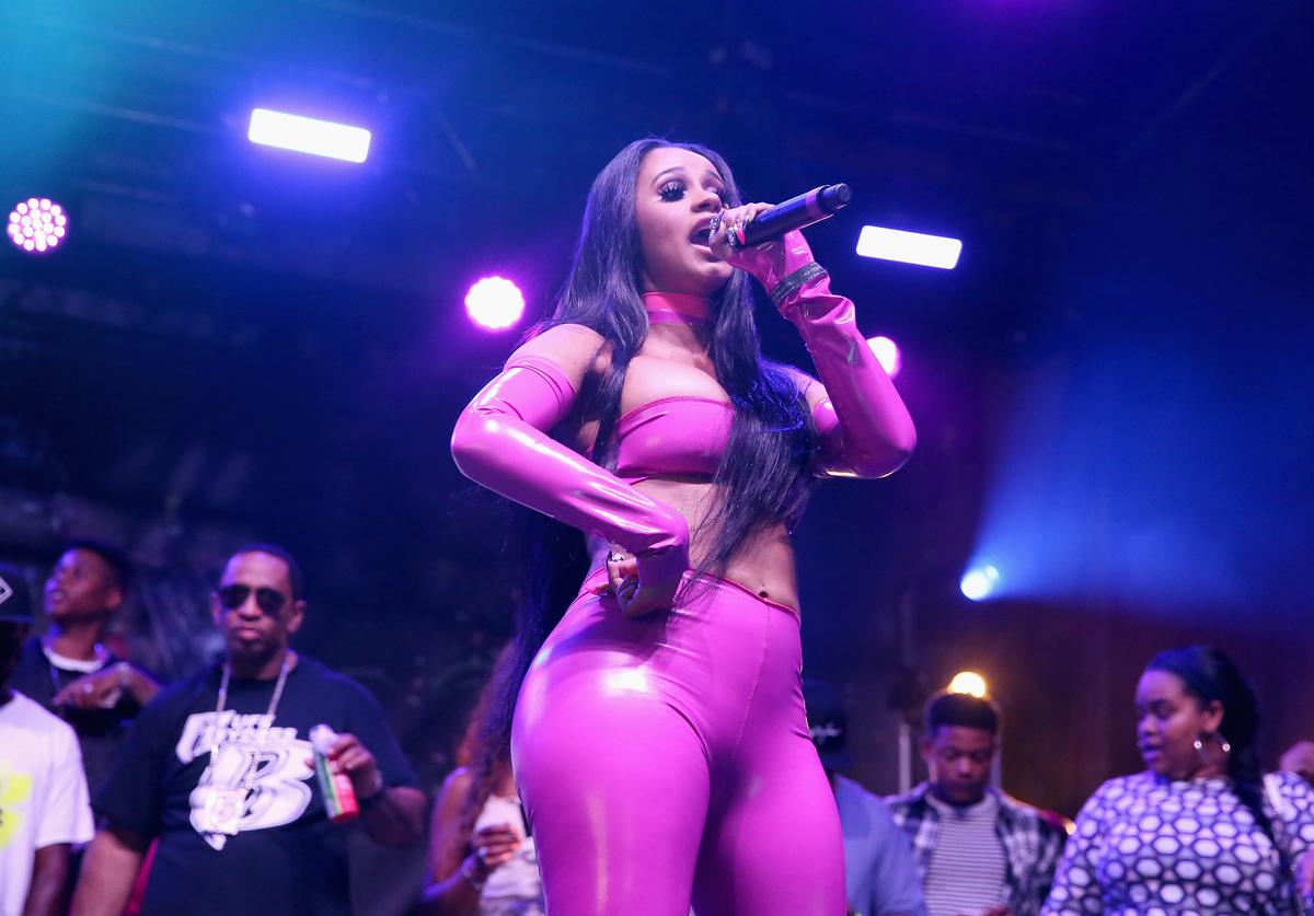 Musical artist Cardi B performs onstage as BACARDI and Swizz Beatz' The Dean Collection present 'No Commission: Art Performs' - Day 1 on August 11, 2016 in New York City.