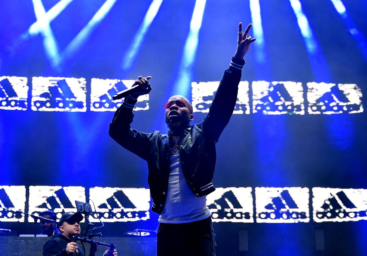 Tory Lanez performs onstage during adidas Creates 747 Warehouse St., an event in basketball culture, on February 16, 2018 in Los Angeles, California