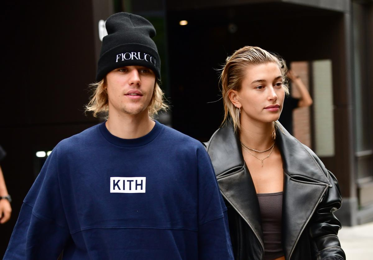 Justin Bieber and Hailey Baldwin seen on the streets of Brooklyn on September 14, 2018 in New York City