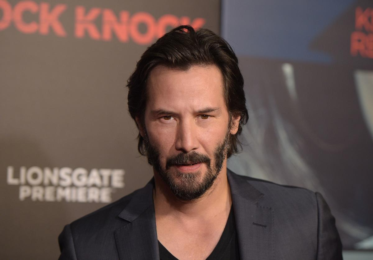 Actor Keanu Reeves attends the premiere of 'Knock Knock' at TCL Chinese Theatre on October 7, 2015 in Hollywood, California.