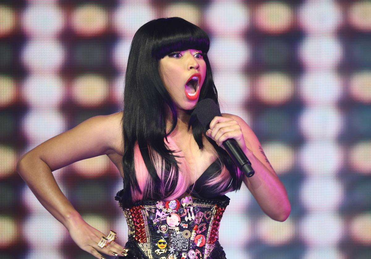 Recording artist Nicki Minaj visits and performs at BET's 106 & PARTY's New Years Eve special at BET Studios on December 11, 2009 in New York City.