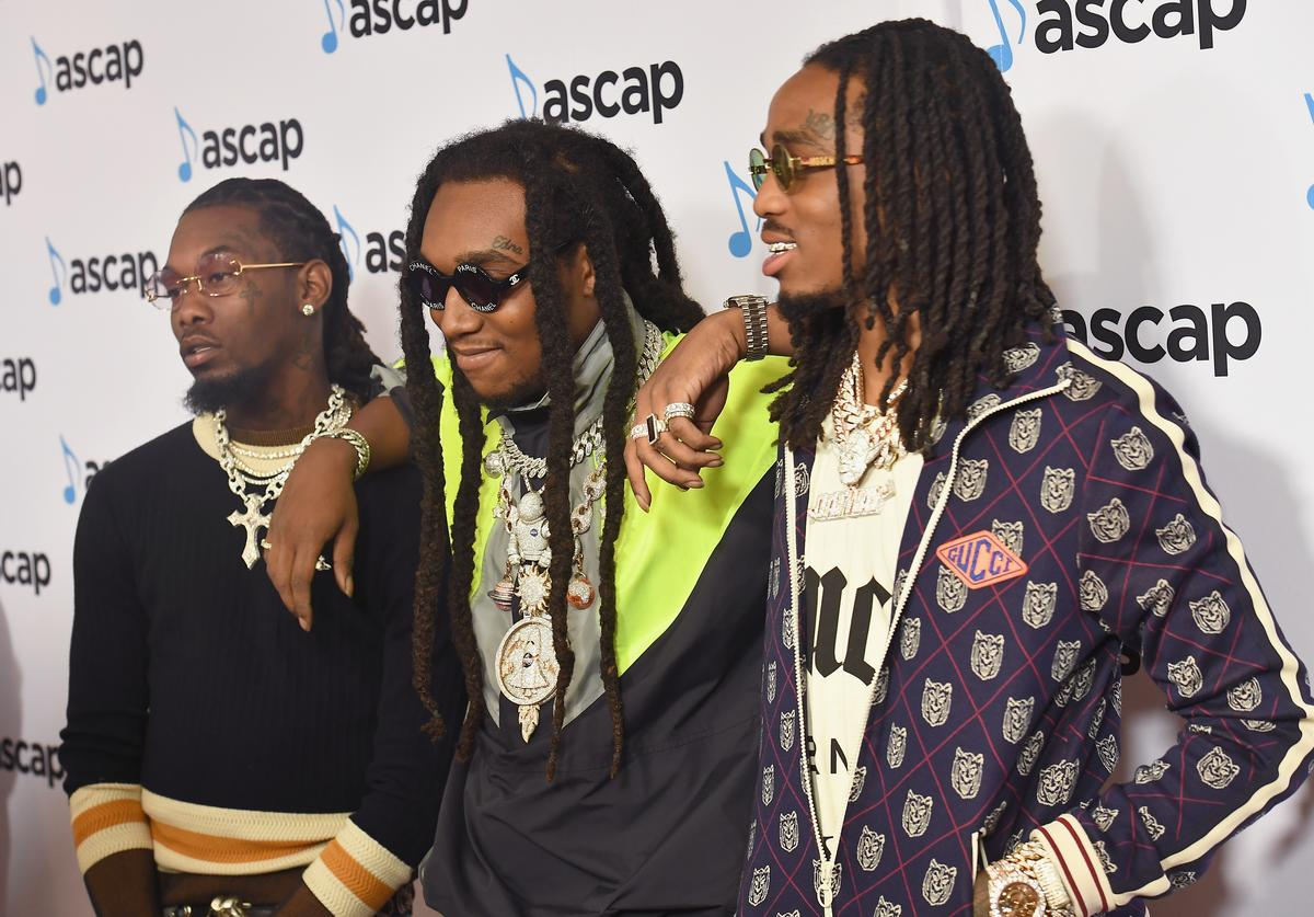 Offset, Takeoff and Quavo of Migos attend the 31st Annual ASCAP Rhythm & Soul Music Awards at the Beverly Wilshire Four Seasons Hotel on June 21, 2018 in Beverly Hills, California