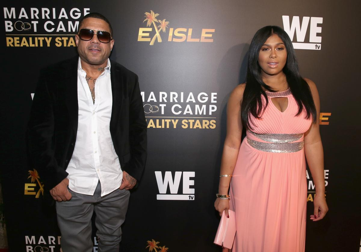 Benzino (L) and music artist Althea Heart attend the WE tv premiere of 'Marriage Boot Camp' Reality Stars and 'Ex-isled' on November 19, 2015 in Los Angeles, California