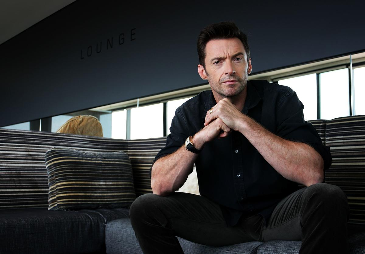 Australian actor Hugh Jackman poses during a photo call to promote his new film Real Steel at the Intercontinental Hotel on September 27, 2011 in Sydney, Australia.