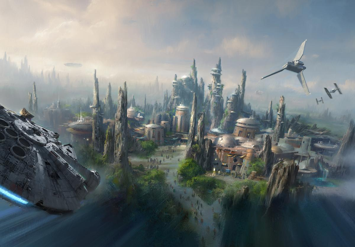 Handout image provided by Disney Parks, Walt Disney Company Chairman and CEO Bob Iger announced at D23 EXPO 2015 that Star Wars-themed lands will be coming to Disneyland park in Anaheim, California and Disney's Hollywood Studios in Orlando, Florida, creating Disney's largest single-themed land expansions ever at 14-acres each.