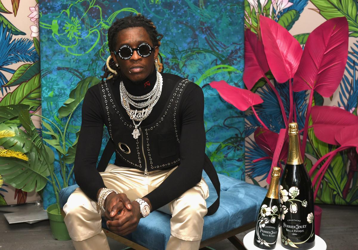 Young Thug attends L'Eden by Perrier-Jouët on December 6, 2018 in Miami Beach, Florida