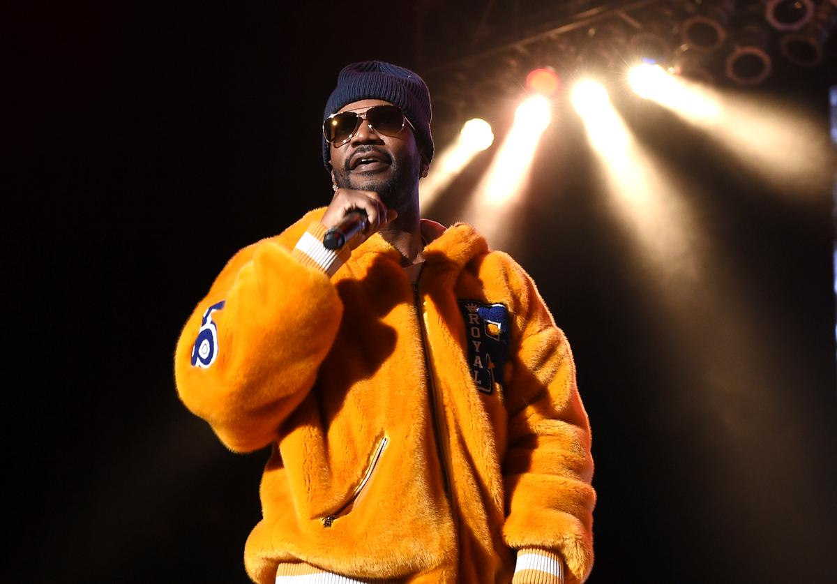 Juicy J performs onstage during 'Mac Miller: A Celebration Of Life' Concert Benefiting The Launch Of The Mac Miller Circles Fund at The Greek Theatre on October 31, 2018 in Los Angeles, California.