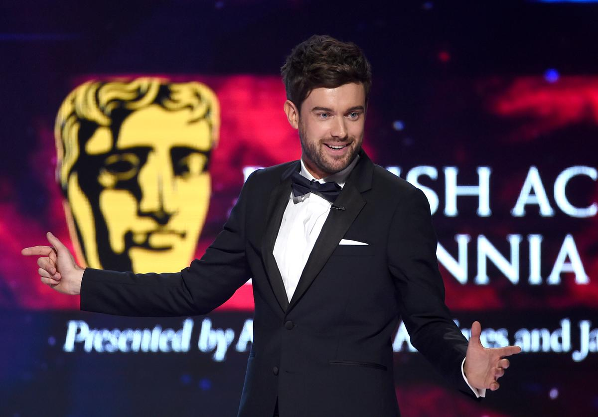 : Host Jack Whitehall speaks onstage at the 2018 British Academy Britannia Awards presented by Jaguar Land Rover and American Airlines at The Beverly Hilton Hotel on October 26, 2018 in Beverly Hills, California.