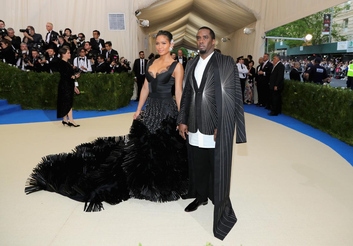 Cassie (L) Sean 'Diddy' Combs attend the 'Rei Kawakubo/Comme des Garcons: Art Of The In-Between' Costume Institute Gala at Metropolitan Museum of Art on May 1, 2017 in New York City.