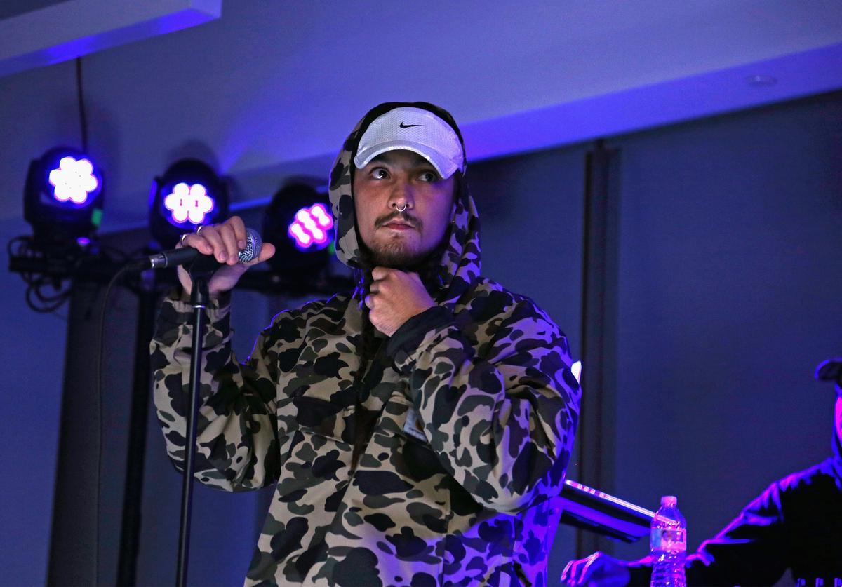 Musical artist Towkio performs onstage at Tech@Fest: SoundCloud Lounge during The New Yorker Festival 2015 at One World Trade Center on October 2, 2015 in New York City.