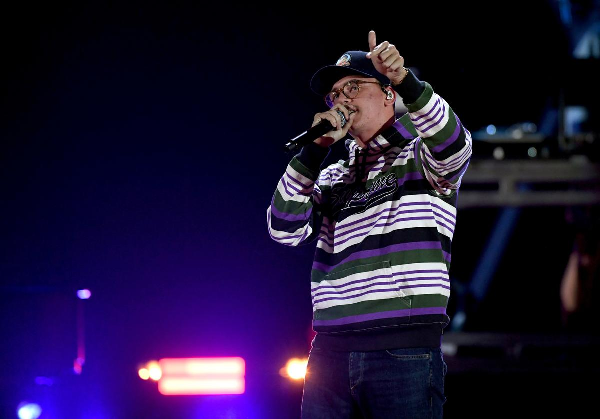 Logic performs onstage during the 2018 iHeartRadio Music Festival at T-Mobile Arena on September 22, 2018 in Las Vegas, Nevada