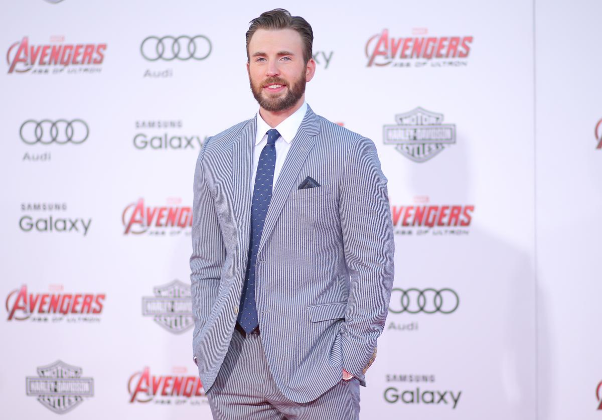 : Actor Chris Evans attends the premiere of Marvel's 'Avengers: Age Of Ultron' at Dolby Theatre on April 13, 2015 in Hollywood, California.