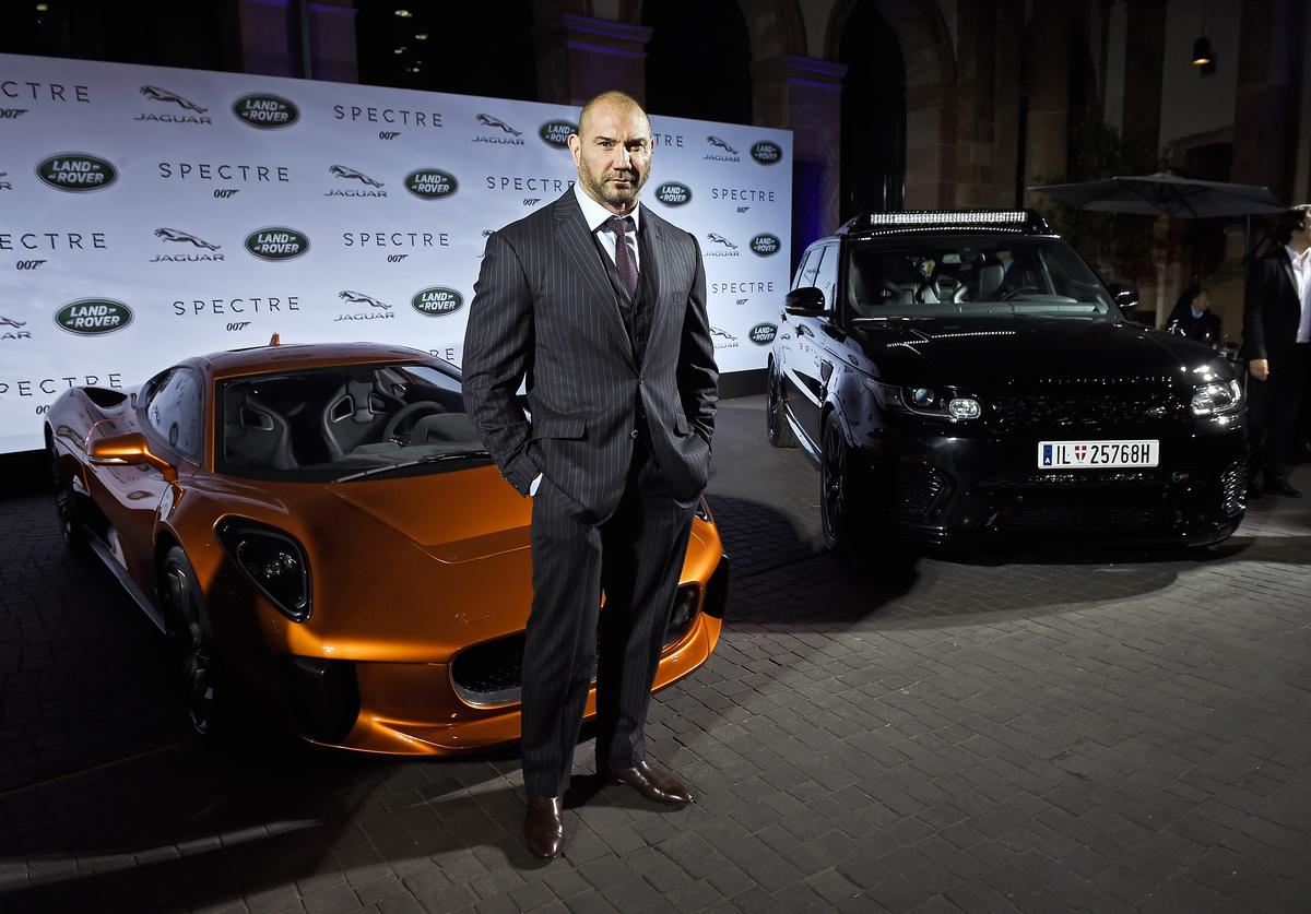 VIP's including Spectre cast members Naomie Harris and David Bautista attend star-studded event as Jaguar and Land Rover stunt vehicles make international debut on September 15, 2015 in Frankfurt am Main, Germany.