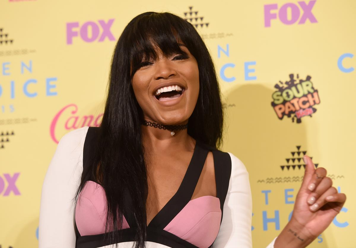 Actress Keke Palmer poses in the press room during the Teen Choice Awards 2015 at the USC Galen Center on August 16, 2015 in Los Angeles, California.