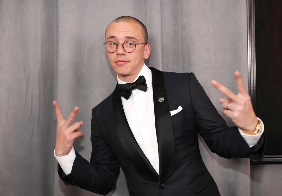 Logic attends the 60th Annual GRAMMY Awards at Madison Square Garden on January 28, 2018 in New York City