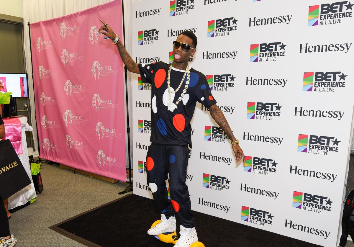 Soulja Boy attends the official BET Experience gifting suite sponsored by Hennessy at Los Angeles Convention Center on June 27, 2015 in Los Angeles, California