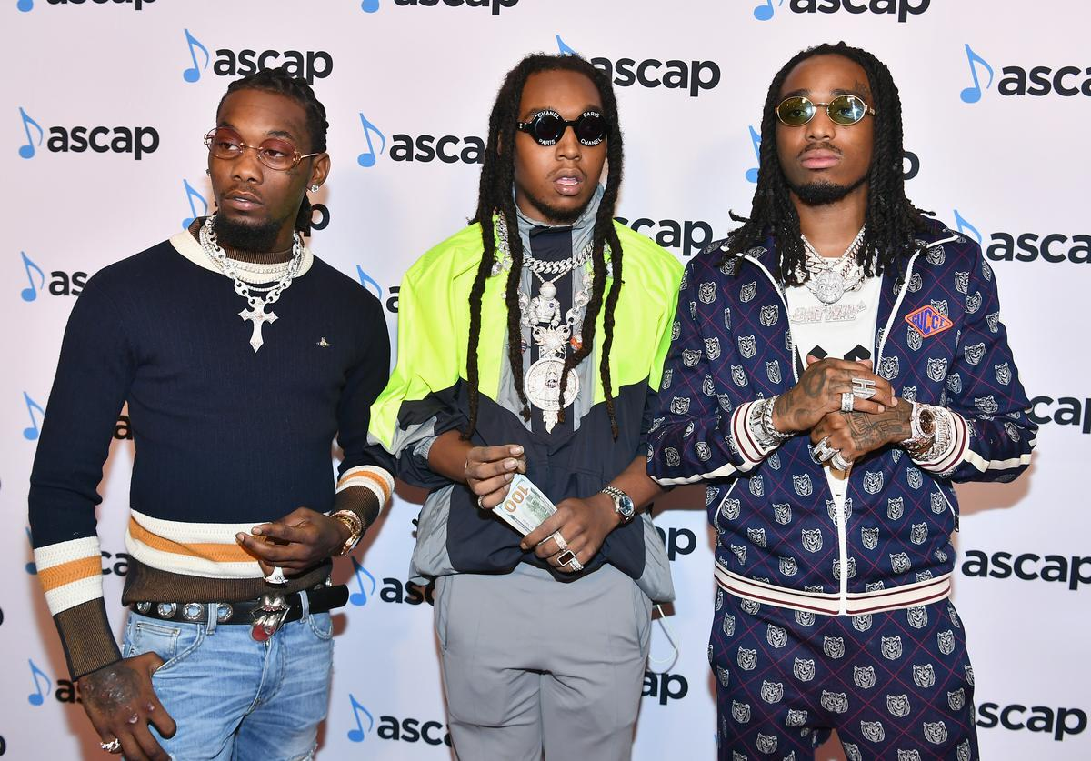 (L-R) Offset, Takeoff and Quavo of Migos attend the 31st Annual ASCAP Rhythm & Soul Music Awards at the Beverly Wilshire Four Seasons Hotel on June 21, 2018 in Beverly Hills, California.