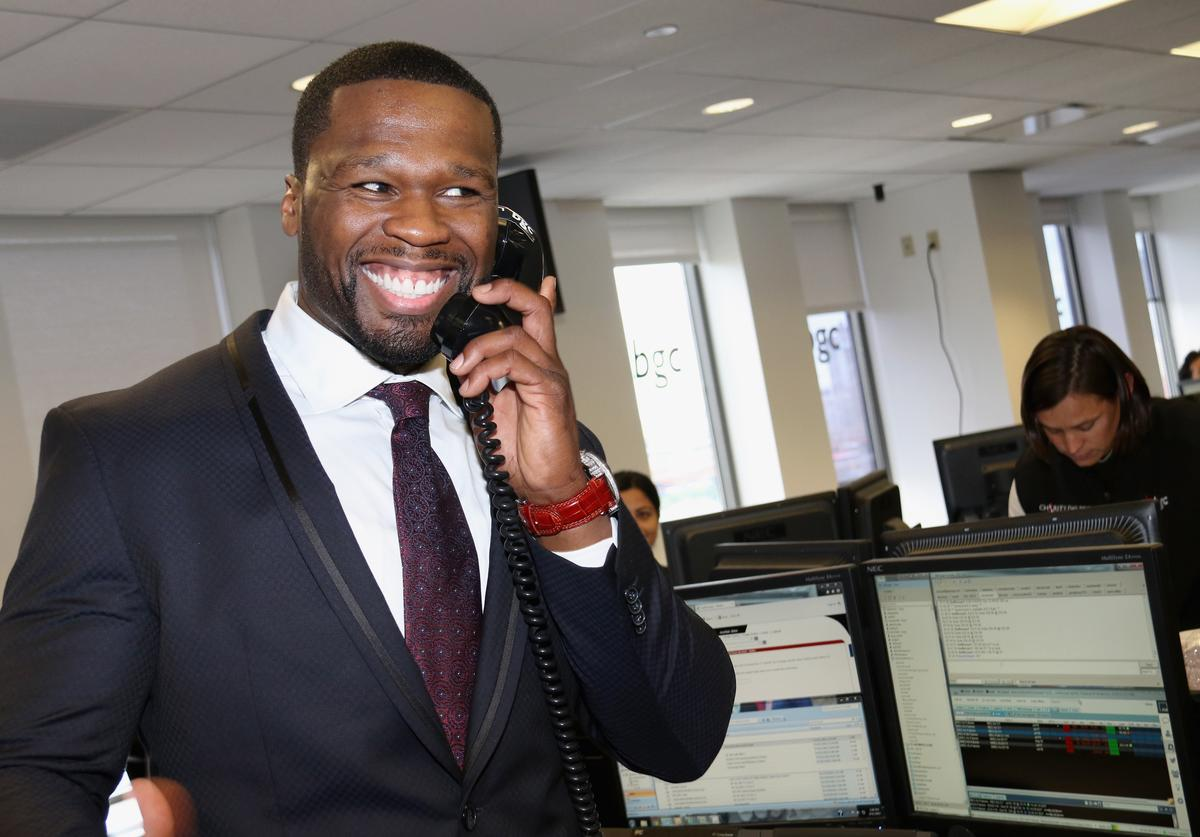 Curtis '50 Cent' Jackson attends Annual Charity Day hosted by Cantor Fitzgerald and BGC at BGC Partners, INC on September 11, 2015 in New York City.