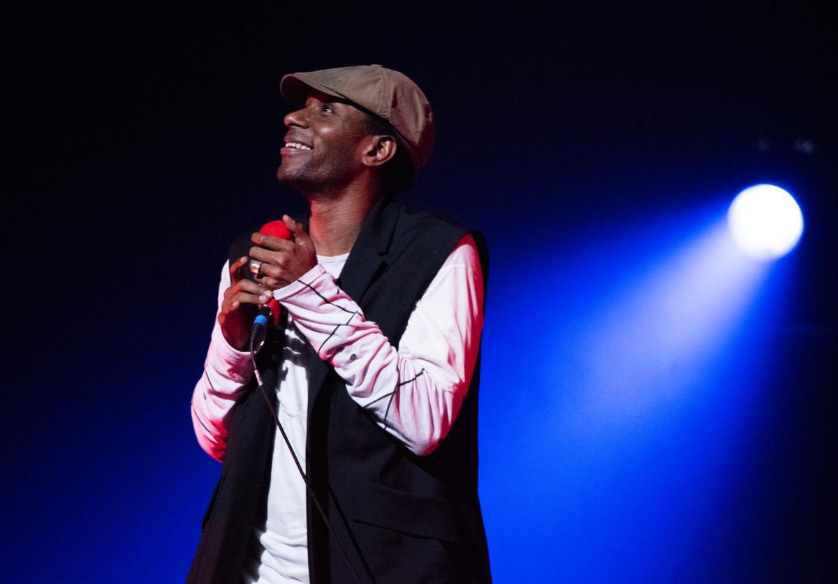 Singer yasiin bey performs in concert at The Apollo Theater on December 21, 2016 in New York City.
