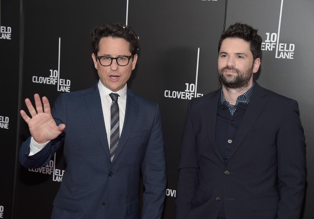 Producer J.J. Abrams and director Dan Trachtenberg attend the '10 Cloverfield Lane' New York premiere at AMC Loews Lincoln Square 13 theater on March 8, 2016 in New York City.
