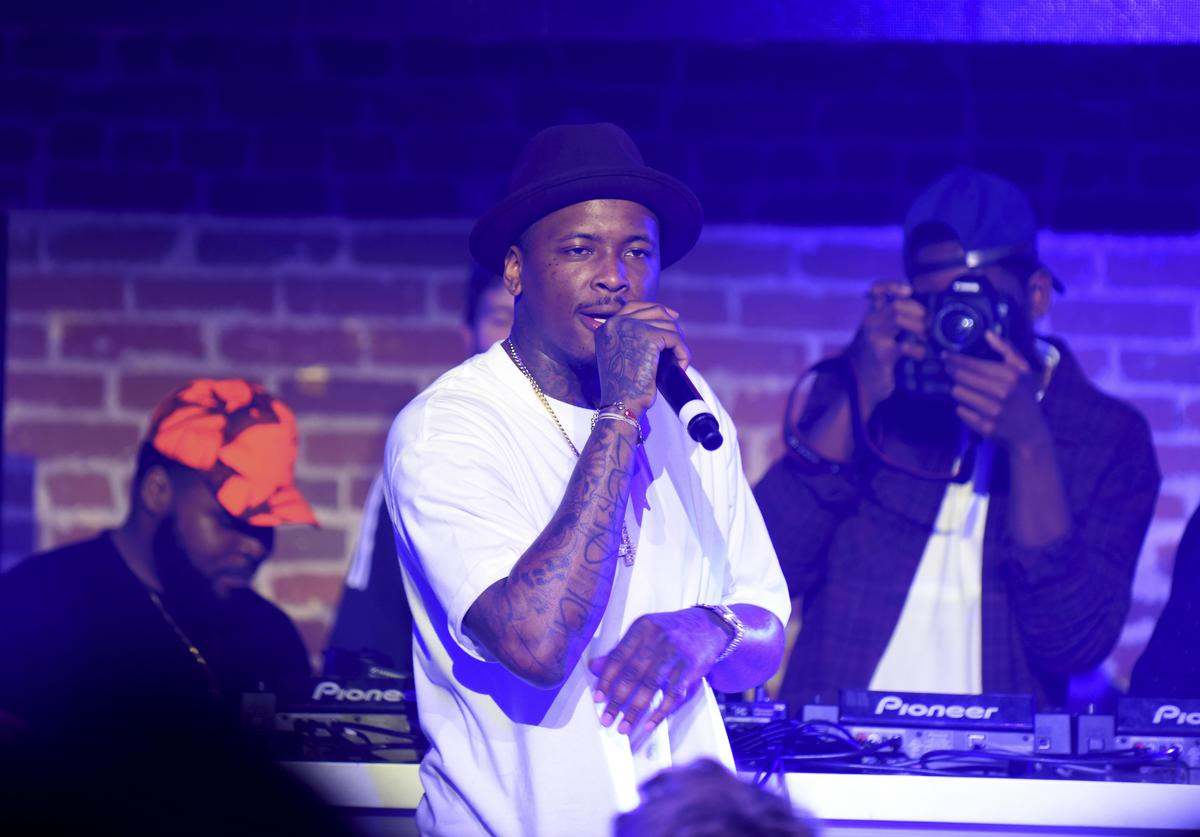 : Rapper YG performs during adidas Be The Difference LA on July 15, 2015 in Los Angeles, California.