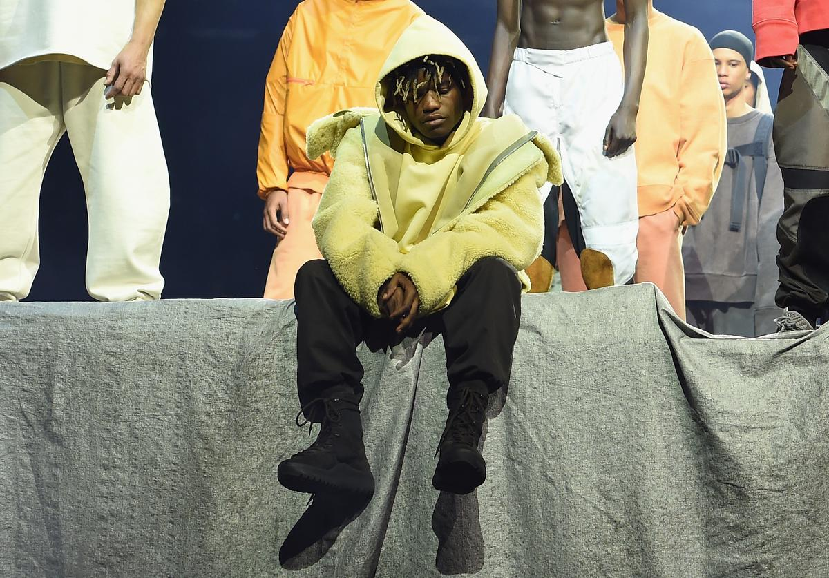 Rapper Ian Connor poses during Kanye West Yeezy Season 3 on February 11, 2016 in New York City.