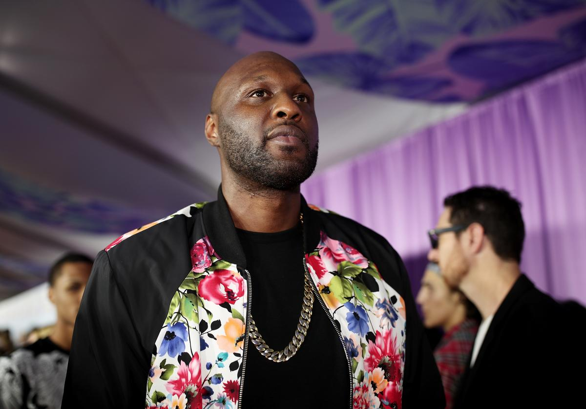 Former NBA player Lamar Odom at Nickelodeon's 2017 Kids' Choice Awards at USC Galen Center on March 11, 2017 in Los Angeles, California.