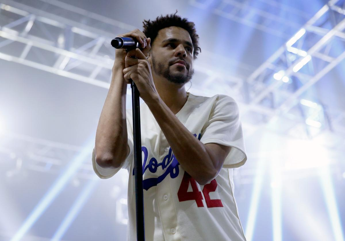 Recording artist J. Cole performs during ESPN the Party at WestWorld of Scottsdale on January 30, 2015 in Scottsdale, Arizona.