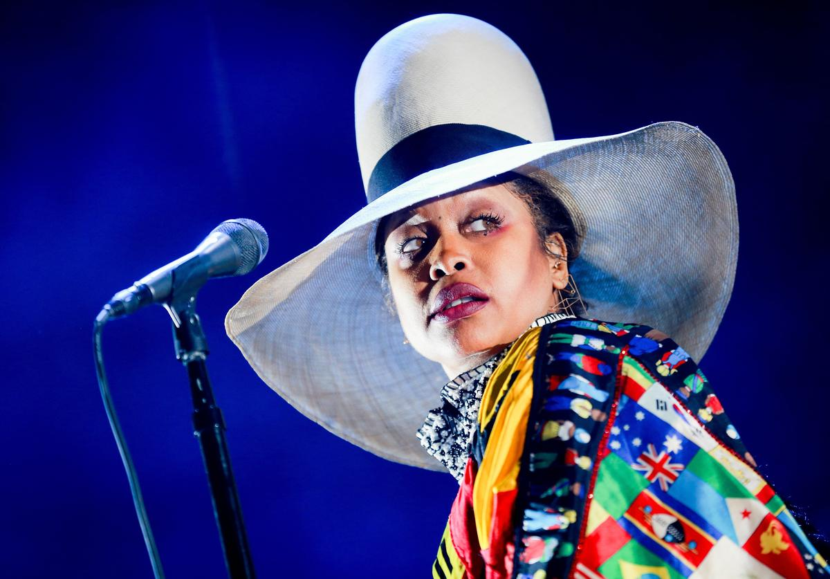 Erykah Badu performs onstage during day 2 of FYF Fest 2017 at Exposition Park on July 22, 2017 in Los Angeles, California.