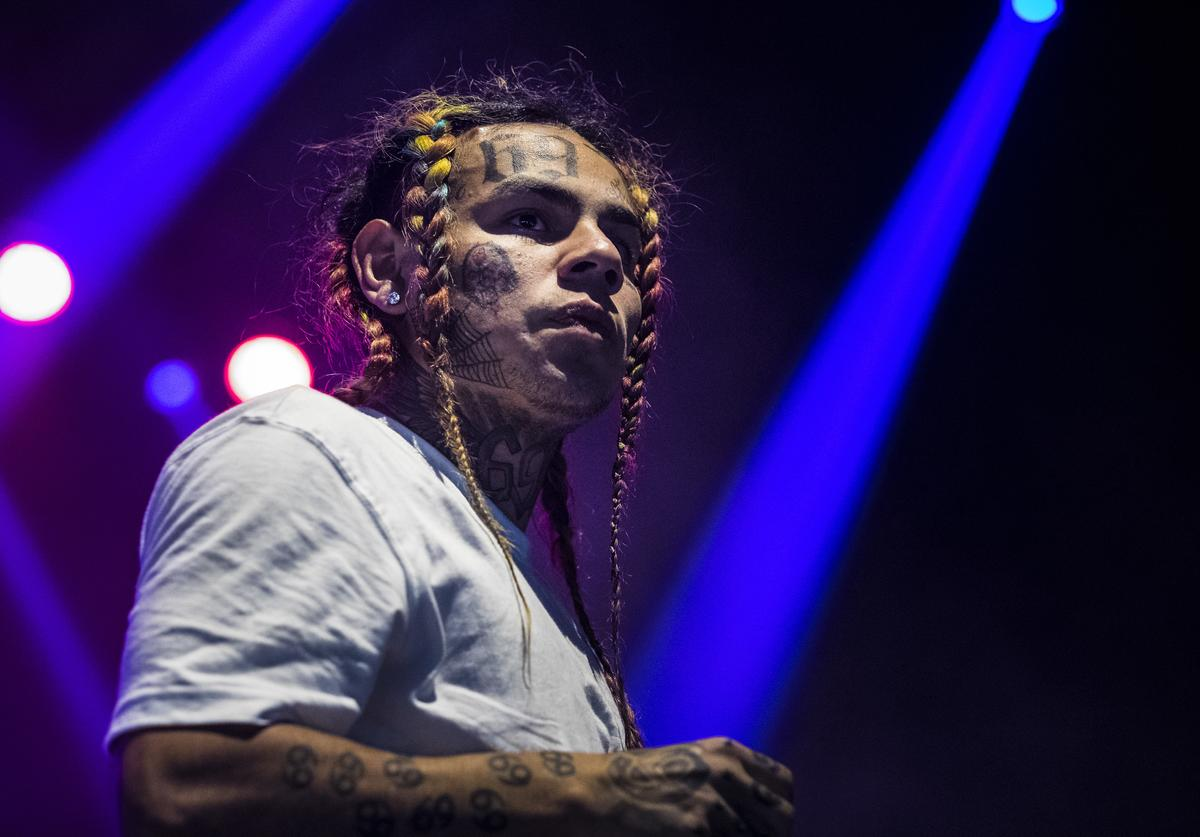 Tekashi 6ix9ine performs in concert at Hovet on September 19, 2018 in Stockholm, Sweden.