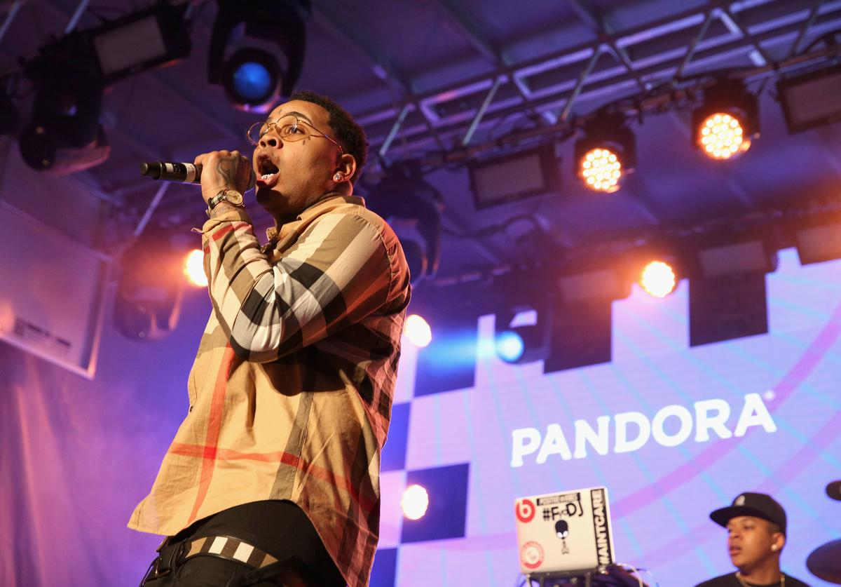 Rapper Kevin Gates performs onstage during the PANDORA Discovery Den SXSW on March 18, 2016 in Austin, Texas.