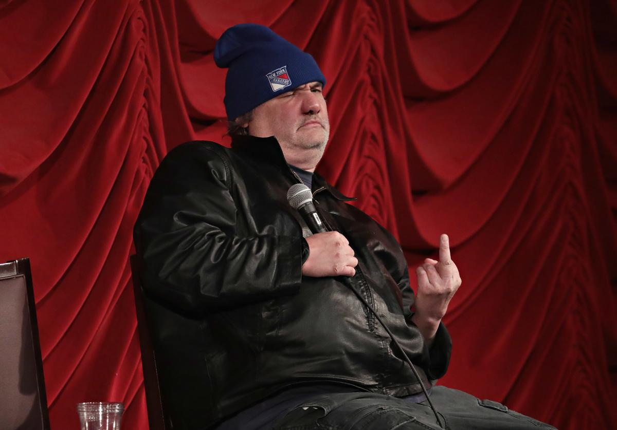 Artie Lange takes part in SiriusXM host Ron Bennington's annual Thanksgiving Special at Hard Rock Cafe - Times Square on November 14, 2017 in New York City.