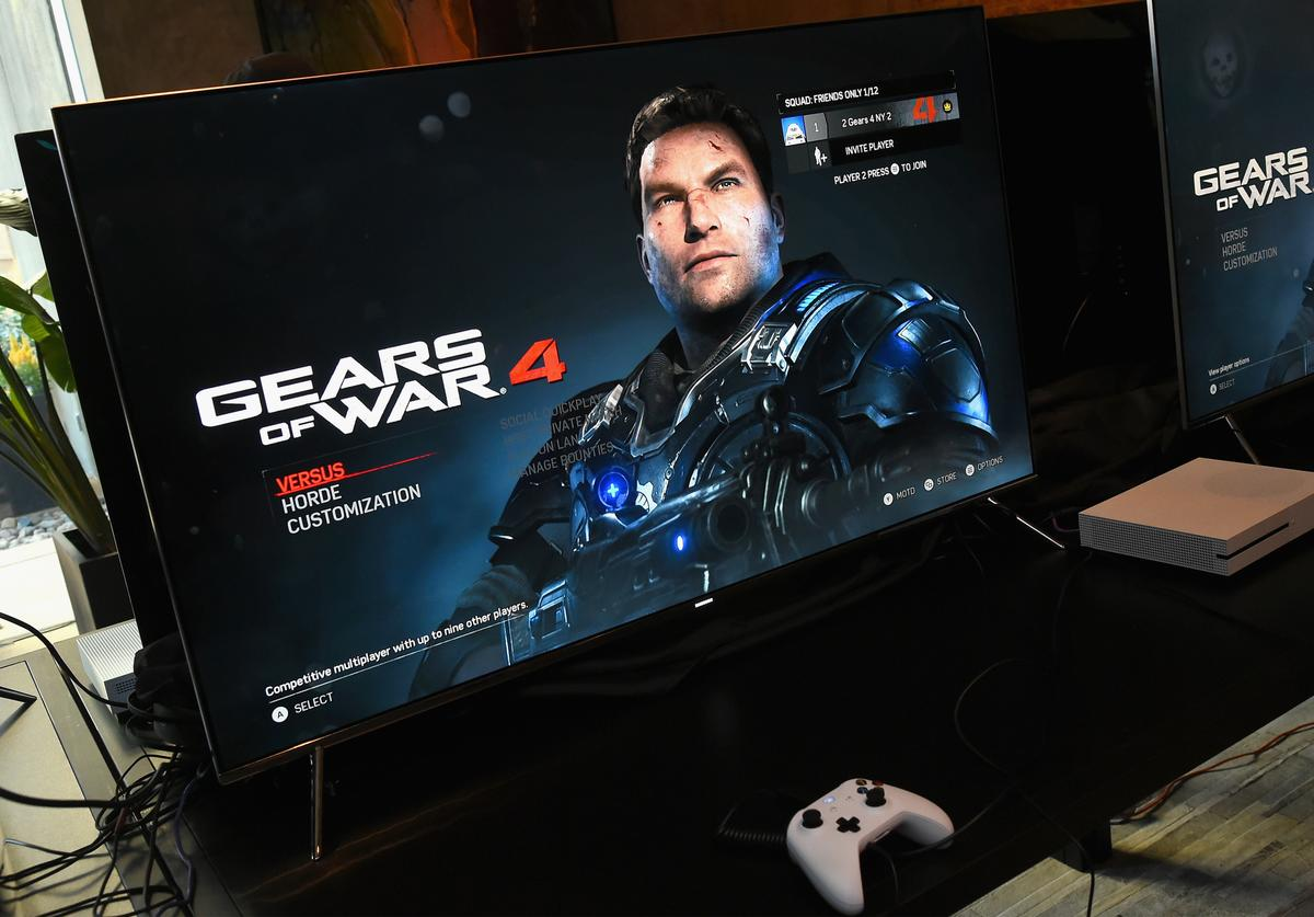 Xbox on display at the Xbox & Gears Of War 4 New York launch event at The Microsoft Loft on October 7, 2016 in New York City.