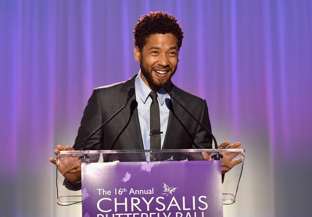Host Jussie Smollett speaks onstage at the 16th Annual Chrysalis Butterfly Ball on June 3, 2017 in Los Angeles, California.