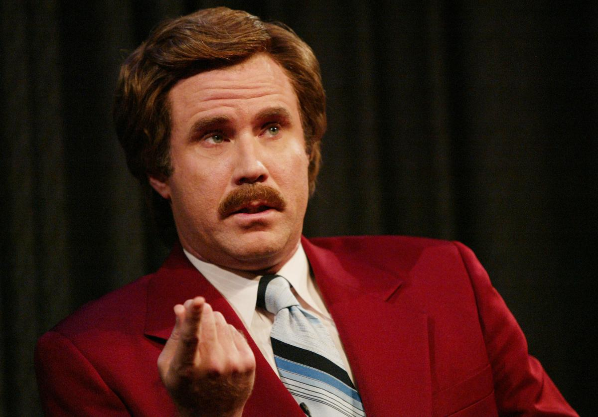 Actor Will Ferrell aka Ron Burgundy participates in Q&A after a special screening of the film 'Anchorman: The Legend of Ron Burgundy' at the Museum of Television and Radio July 7, 2004 in New York City