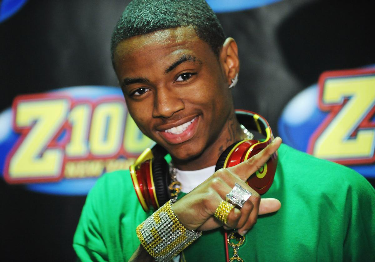 Rapper Soulja Boy poses backstage in the press room during Z100's Zootopia 2009 at the Izod Center on May 16, 2009 in East Rutherford, New Jersey.
