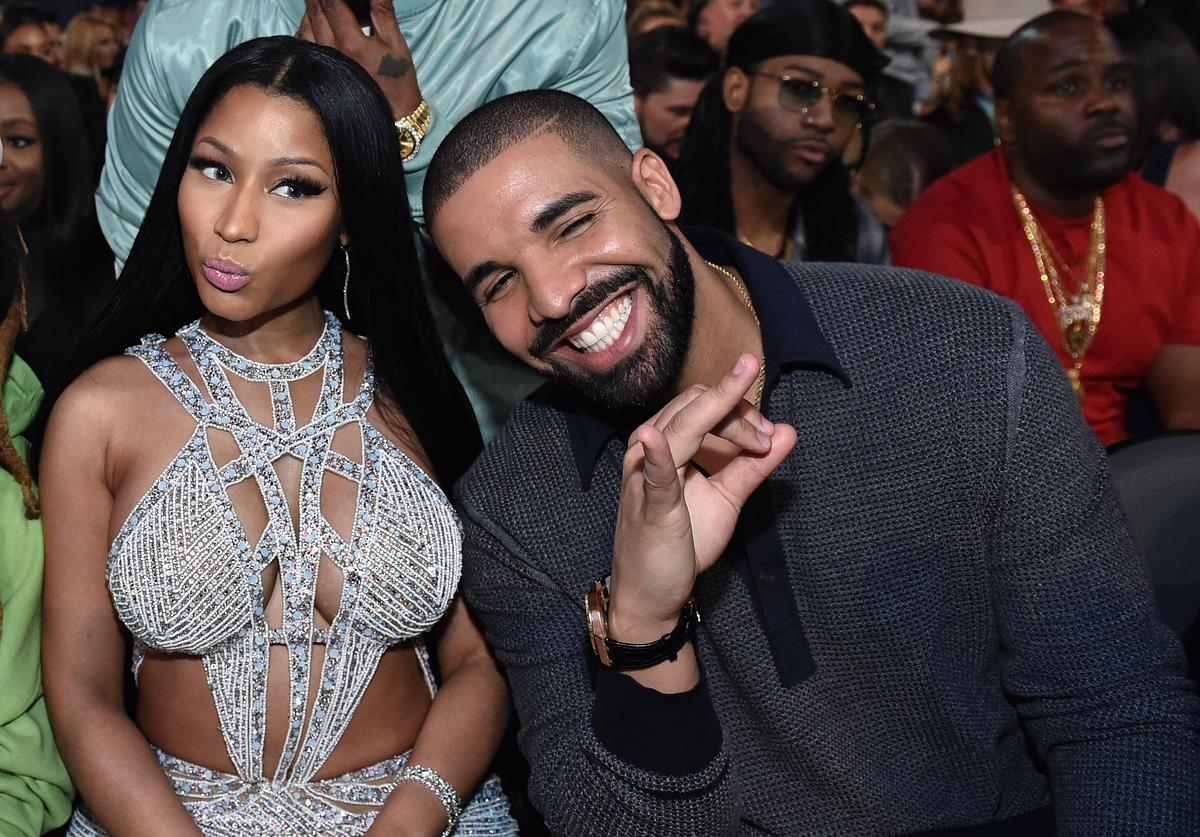 Recording artists Nicki Minaj and Drake attend the 2017 Billboard Music Awards at T-Mobile Arena on May 21, 2017 in Las Vegas, Nevada.