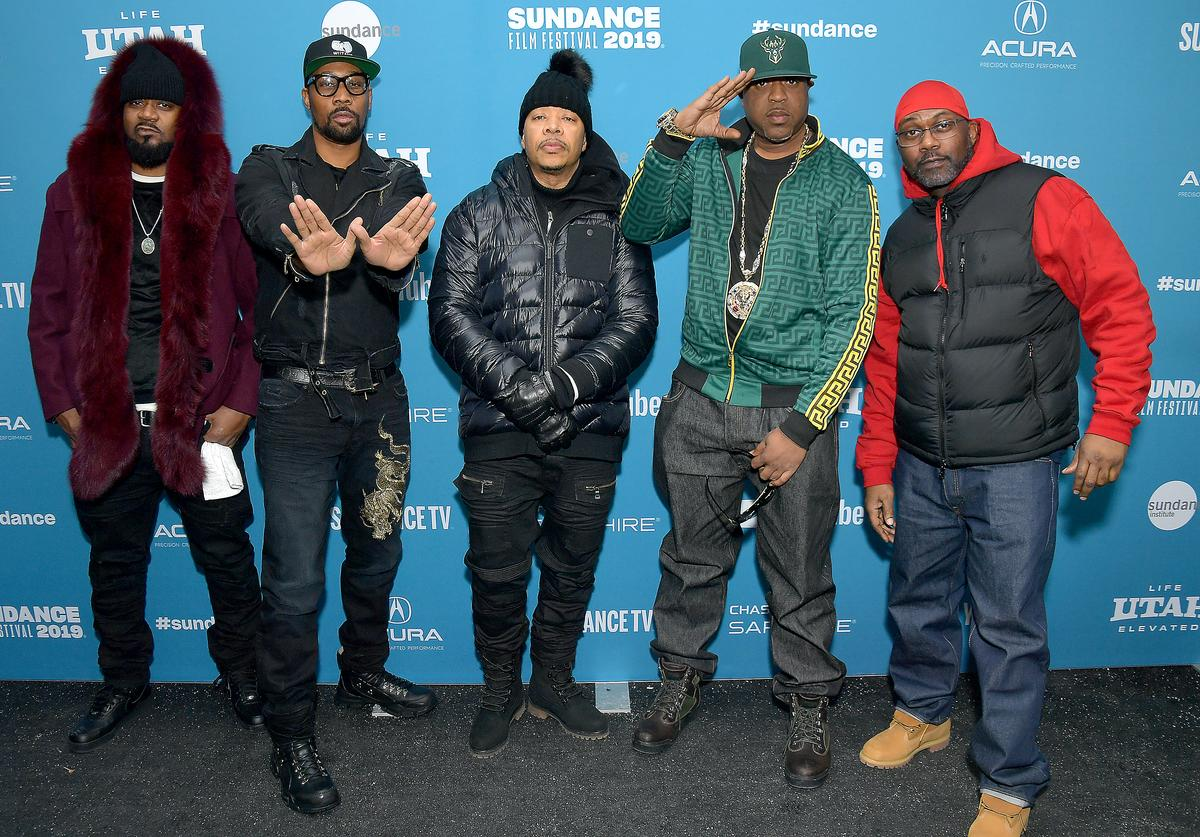Members of the Wu-Tang Clan Ghostface Killah, RZA, U-God, Cappadonna and Masta Killa attend the 'Wu-Tang Clan: Of Mics And Men' premiere during the 2019 Sundance Film Festival at Library Center Theater on January 28, 2019 in Park City, Utah.