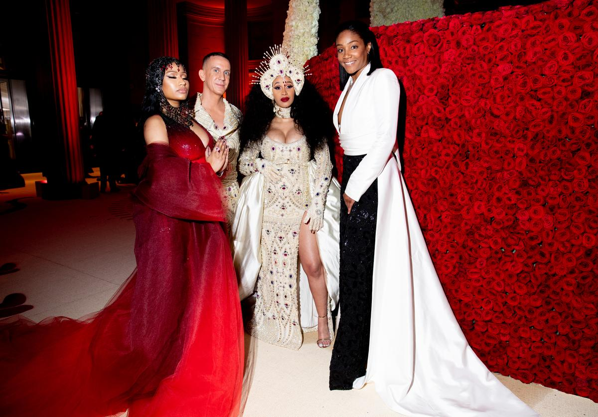 Nicki Minaj, Jeremy Scott, Cardi B, and Tiffany Haddish at The Metropolitan Museum of Art on May 7, 2018 in New York City.