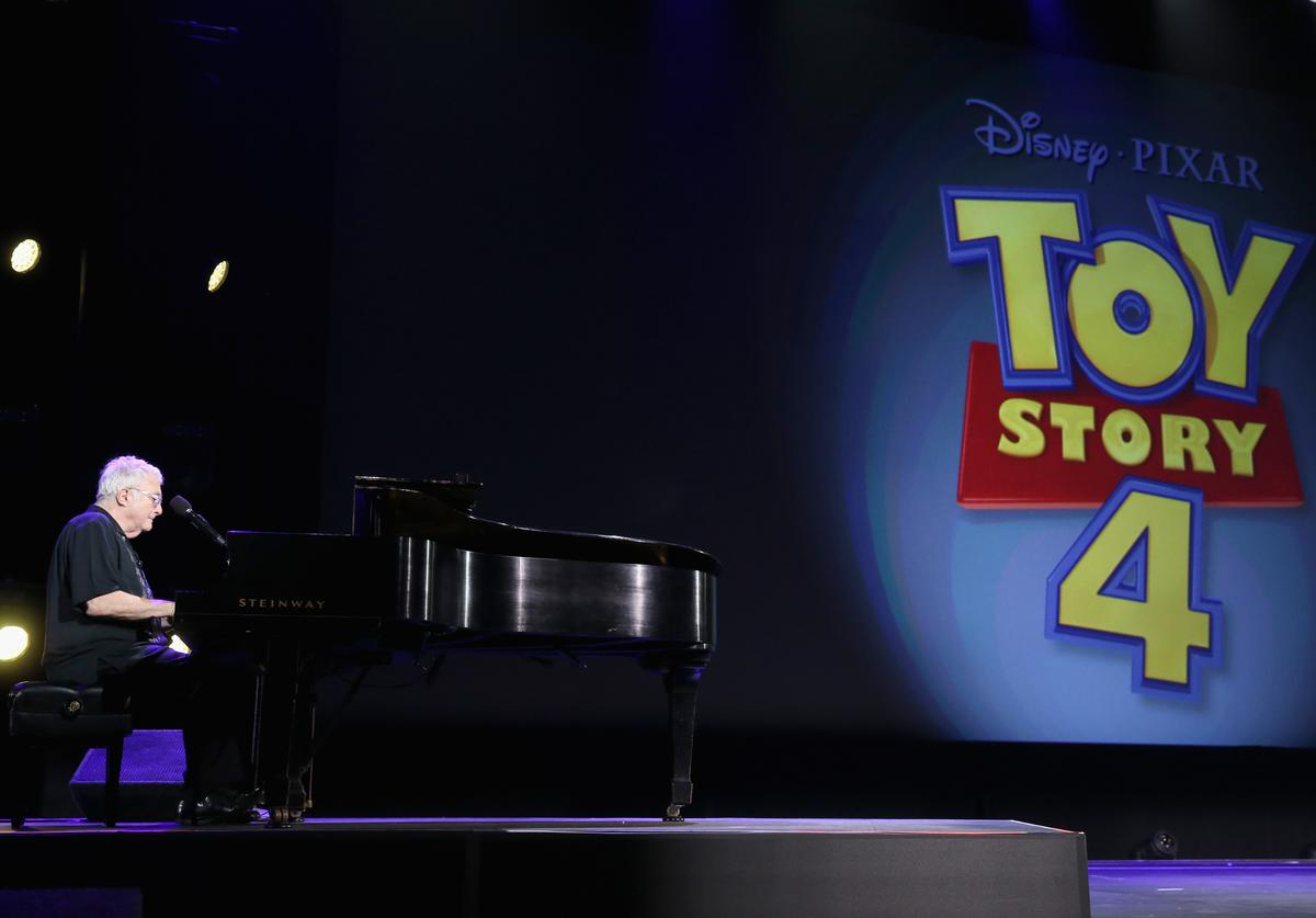 Composer Randy Newman of TOY STORY 1, 2 and 3 took part today in 'Pixar and Walt Disney Animation Studios: The Upcoming Films' presentation at Disney's D23 EXPO 2015 in Anaheim, Calif